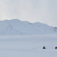 snow survey near OTC experiment / in front of Ferdinandbreen