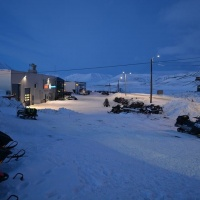 Longyearbyen in the night